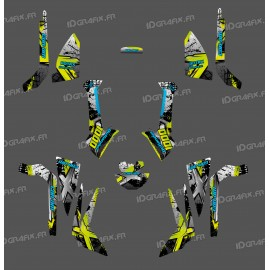 Kit decoration Brush Series (Grey/light Green / Manta/Blue) Medium - IDgrafix - Can Am Outlander (G2)-idgrafix