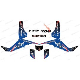 Kit de decoración de Arma Azul - IDgrafix - Suzuki LTZ 400