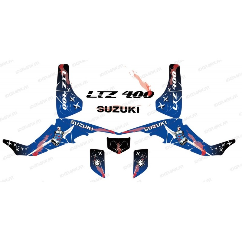 Kit décoration Weapon Bleu - IDgrafix - Suzuki  LTZ 400 - Idgrafix