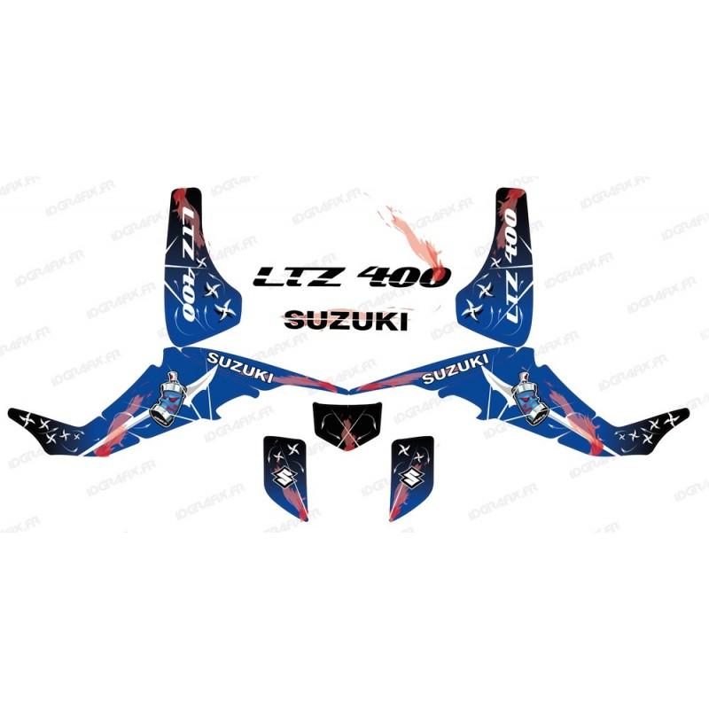Kit de decoración de Arma Azul - IDgrafix - Suzuki LTZ 400 -idgrafix