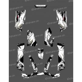 Kit Deco O Velocità di Grigio - Kymco 550 / 700 MXU -idgrafix