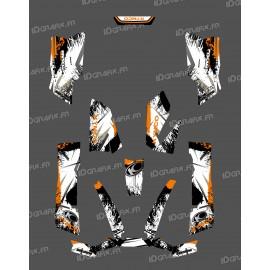 Kit Deco O Velocità Arancione - Kymco 550 / 700 MXU -idgrafix