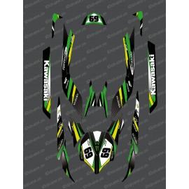 Kit de decoración de la Fábrica de Edición (Verde) para Kawasaki Ultra 250/260/300/310R -idgrafix