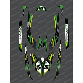 Kit decoration Factory Edition (Green) for Kawasaki Ultra 250/260/300/310R-idgrafix