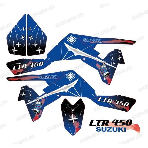 Kit décoration Weapon Bleu - IDgrafix - Suzuki LTR 450-idgrafix