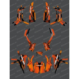 Kit décoration Full Whip (Orange) - IDgrafix - Can Am série L Outlander