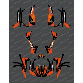 Kit décoration Full Wasp (Orange) - IDgrafix - Can Am série L Outlander