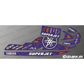 Kit décoration Line Edition (Noir/rouge) pour Yamaha Superjet 700-idgrafix
