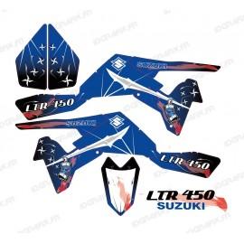 Kit décoration Weapon Bleu/Blanc - IDgrafix - Suzuki  LTR 450