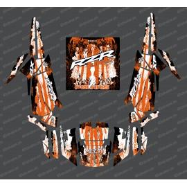 Kit de decoració Gota Edició (Taronja)- IDgrafix - Polaris RZR 1000 Turbo