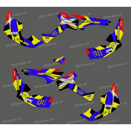 Kit decoration Factory 2018 Full (Blue/Yellow)- IDgrafix - Can Am Renegade