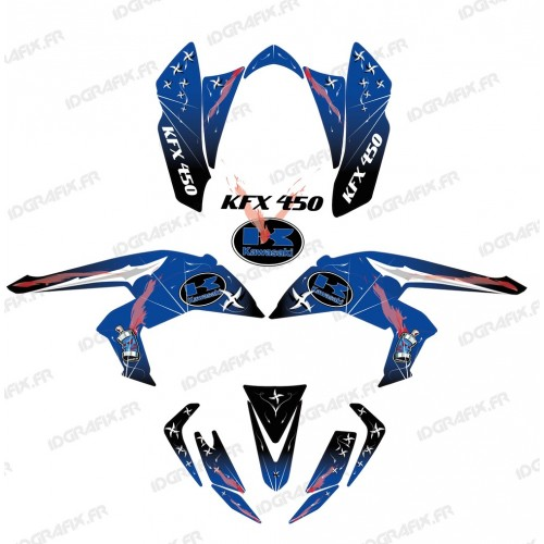 Kit decoration Weapon Blue - IDgrafix - Kawasaki KFX 450R