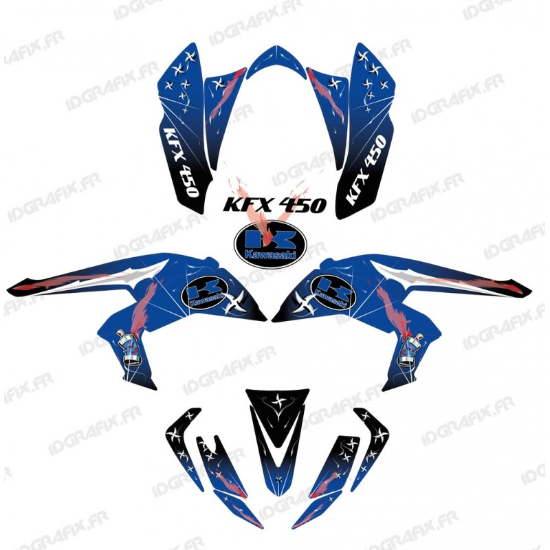 Kit de decoración de Arma Azul - IDgrafix - Kawasaki KFX 450R -idgrafix