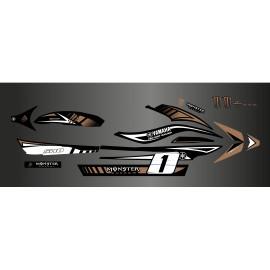 Kit deco 100% personalizzato Mostro Marrone - Yamaha FX (1 ° generazione) -idgrafix