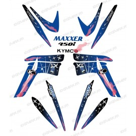 Kit décoration Weapon Bleu - IDgrafix - Kymco 450 Maxxer