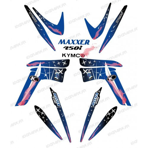 Kit décoration Weapon Bleu - IDgrafix - Kymco 450 Maxxer