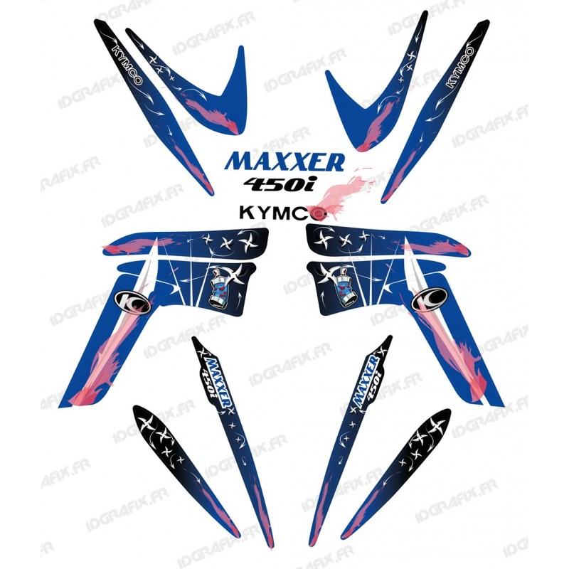 Kit décoration Weapon Bleu - IDgrafix - Kymco 450 Maxxer-idgrafix