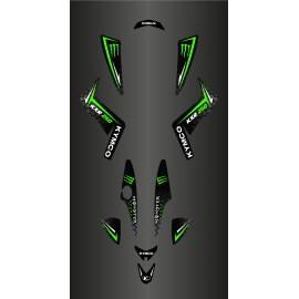 Kit Deco Personalizzato Mostro (Verde) - Kymco 250 Maxxer -idgrafix