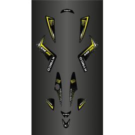 Kit Déco Personnalisé Monster (Jaune) - Kymco 250 Maxxer-idgrafix