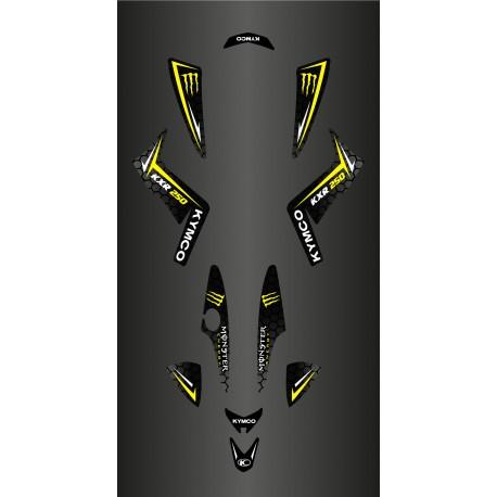 Kit De Decoració Personalitzada Monstre (Groc) - Kymco 250 Maxxer -idgrafix