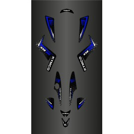 Kit Deco Personalizzato Mostro (Blu) - Kymco 250 Maxxer -idgrafix