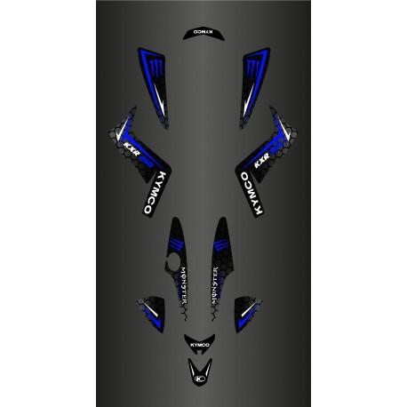 Kit Déco Personnalisé Monster (Bleu) - Kymco 250 Maxxer-idgrafix
