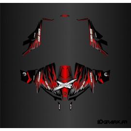 Kit de decoración de Ultimate NEGRO/Rojo - Idgrafix - Can Am 1000 Maverick -idgrafix