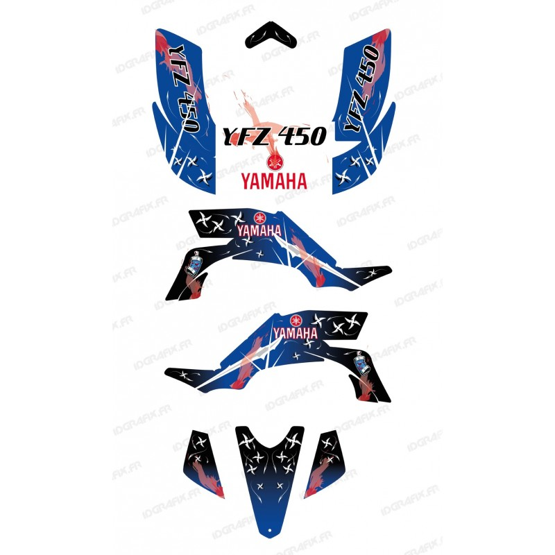 Kit décoration Weapon Bleu - IDgrafix - Yamaha YFZ 450 - Idgrafix