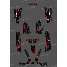 Kit-Deco-Eigene Monster Edition Rot - Kymco arctic cat 550 / 700 MXU -idgrafix