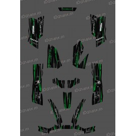 Kit-Deco-Eigene Monster Edition Grün - Kymco arctic cat 550 / 700 MXU -idgrafix