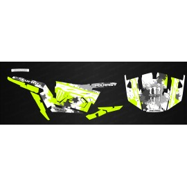 Kit dekor MonsterRace Grün /Weiß - IDgrafix - Polaris RZR 1000 -idgrafix