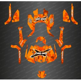Kit decoration Digital Camo Full Edition Orange - IDgrafix - Can Am Outlander G2-idgrafix