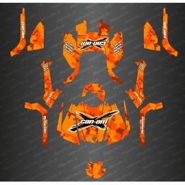 Kit di decorazione Digitale Camo Completo dell'Edizione Arancione - IDgrafix - Can Am Outlander G2 -idgrafix