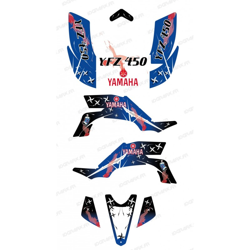 Kit décoration Weapon Bleu/Blanc - IDgrafix - Yamaha YFZ 450 - Idgrafix
