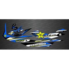 Kit decorazione Rockstar Edizione Blu per Seadoo GTR 230 -idgrafix