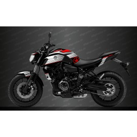 Kit decoration Racing Red - IDgrafix - Yamaha MT-07 (after 2018)-idgrafix