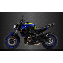 Kit decoration Racing Blue/yellow Fluo - IDgrafix - Yamaha MT-07 (after 2018)-idgrafix
