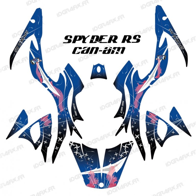 Kit decoration Weapon Blue - IDgrafix - Can Am Spyder RS-idgrafix