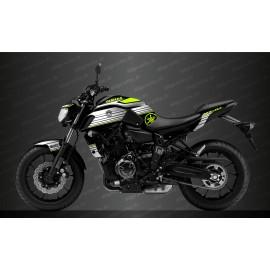Kit décoration Racing Blanc/jaune Fluo - IDgrafix - Yamaha MT-07 (après 2018)