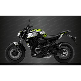 Kit decoration Racing White/yellow Fluo - IDgrafix - Yamaha MT-07 (after 2018)-idgrafix