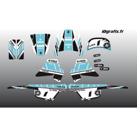 Kit décoration Turquoise Girly Full - IDgrafix - Yamaha 50 Piwi-idgrafix