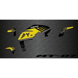 Kit déco 100% Monster Edition (Jaune) - IDgrafix - Yamaha MT-07 (après 2018)