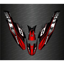 Kit decoration 100% Custom DC Racing (Red) for Kawasaki SXR 1500-idgrafix