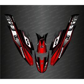 Kit decorazione 100% Custom CC Racing (Rosso) per Kawasaki SXR 1500