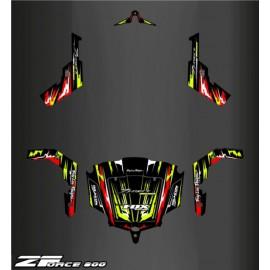 Kit de decoración Rojo/Amarillo Edición - Idgrafix - CF Moto ZForce -idgrafix