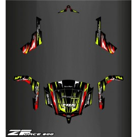 Kit decoration Red/Yellow Edition - Idgrafix - CF Moto ZForce 800