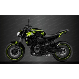 Kit deco 100% Custom Monster Race Edition (Yellow) - IDgrafix - Yamaha MT-07 (after 2018)