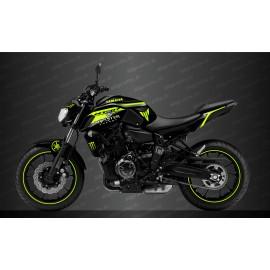 Kit deco 100% Custom Race Monster Edition (Giallo) - IDgrafix - Yamaha MT-07 (dopo il 2018)