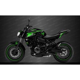 Kit déco 100% Perso Monster Race Edition (Vert) - IDgrafix - Yamaha MT-07 (après 2018)