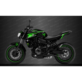 Kit deco 100% Custom Monster Race Edition (Green) - IDgrafix - Yamaha MT-07 (after 2018)
